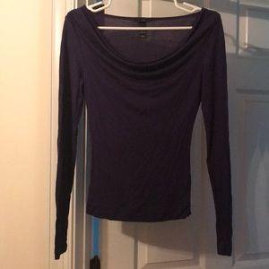 Plum long sleeve shirt